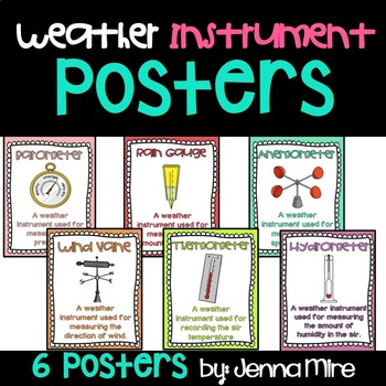 Weather Instruments Posters