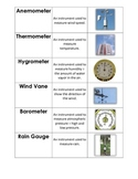Weather Instrument Matching Cards