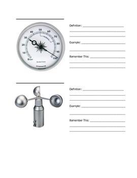Weather Instrument Notes Worksheet