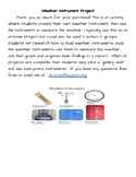 Weather Instrument Project- Project Based Learning