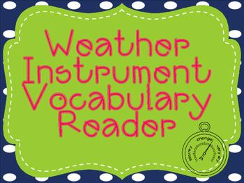 Weather Instrument Vocabulary Reader