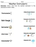 Weather Instrument Worksheet