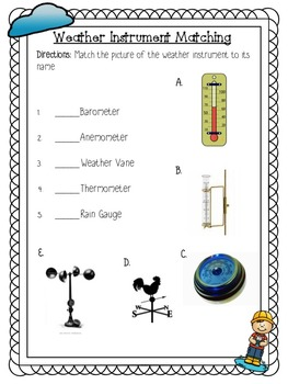 Weather Instruments Powerpoint and Activites