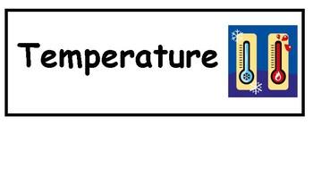 Weather Instruments & Factors Word Wall