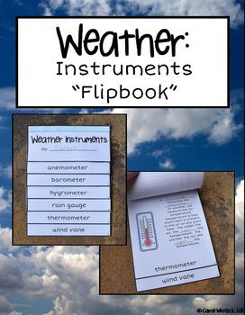 weather instruments flipbook by carrie whitlock tpt. Black Bedroom Furniture Sets. Home Design Ideas