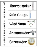 Weather Instruments- Interactive Notebook Page