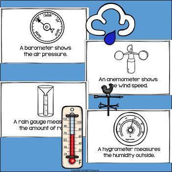 Weather Instruments Mini Book for Early Readers