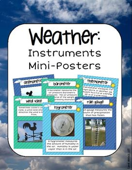 Weather Instruments Mini Posters