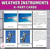 Weather Instruments Montessori 4-part cards