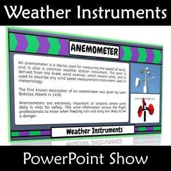 Weather Instruments PowerPoint Show