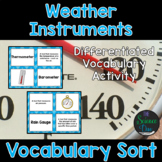 Weather Instruments Vocabulary Sort