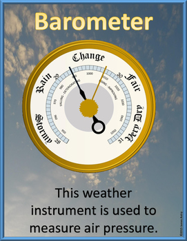 Weather Instruments - Weather Bulletin Board - Weather Vocabulary