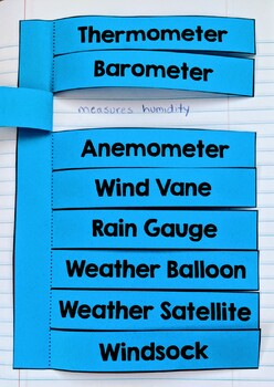 Weather Instruments/Weather Tools Interactive Notebook Flap Book