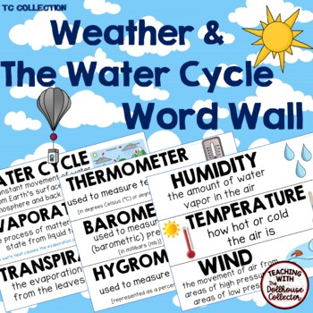 WEATHER & THE WATER CYCLE WORD WALL - A Growing Set from the TC Collection