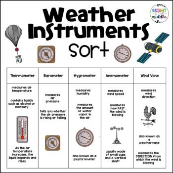 Weather Instruments Worksheet   Engaging by Kayla Renee ...