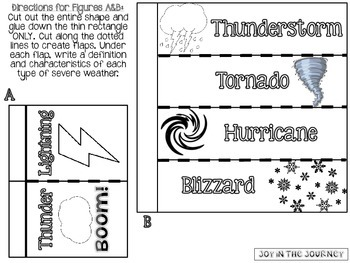 Weather Interactive Notebook Foldables