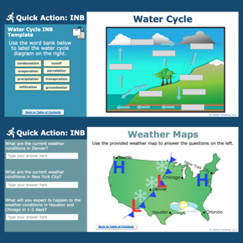 Weather Interactive Notebook Pages