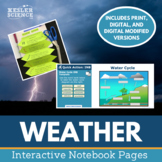 Weather Interactive Notebook Pages - Print and Digital Versions