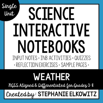 Weather Interactive Notebook Unit