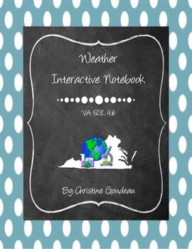Weather Interactive Notebook - VA SOL 4.6