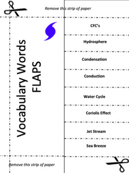 Weather Interactive Notebook Vocabulary FLIPS!