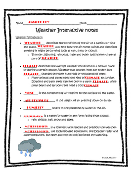 Weather Interactive Notes part 1