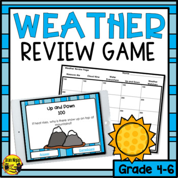 Weather- Interactive Review Game