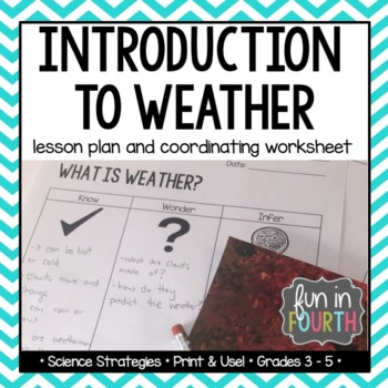 Weather Introduction Lesson Plan and Worksheet