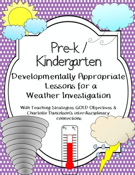 Weather Investigation Plans aligned w/ Teaching Strategies GOLD Objectives