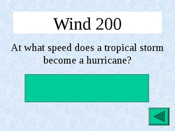 Weather Jeopardy Power Point with Interactive Scoreboard