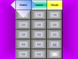Weather Jeopardy Review Game for Elementary Students