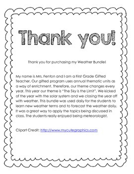 Weather Journal Bundle