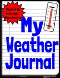 Weather Journal: Digital & Printable Versions w/links & QR codes