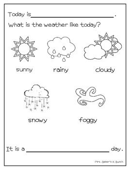 Weather Journal Freebie