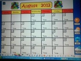 Weather Journal, Graph, and Calendar 2014 (Activboard Flip