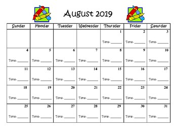 Printable 2019-2020 Calendar' & Worksheets | Teachers Pay