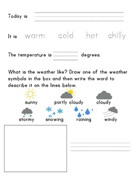 Weather Journal Kindergarten Prek