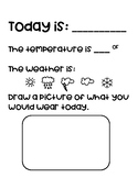 Weather Journal Page