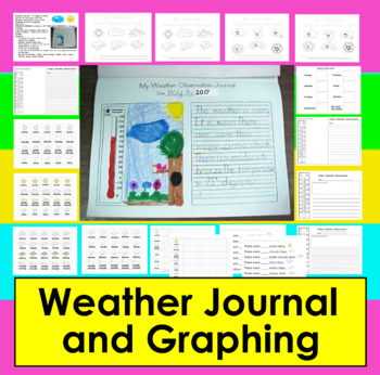 Weather Journal Activities for K/1: Writing & Graphing