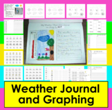Weather Journal Activities for K/1 Writing and Graphing Common Core
