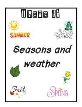 Weather Journal- Writing prompts for weather