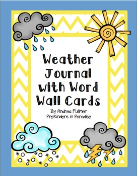 Weather Journal with Word Wall Cards