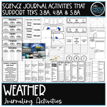 Weather: Interactive Notebook Journaling and Activity Pages