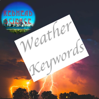 Weather Keywords with Word Wall Cutouts (with & without definitions)