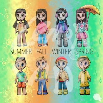 Weather Kids Clip Art