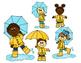 Weather Kids Clip Art