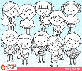 Weather Kids Clipart