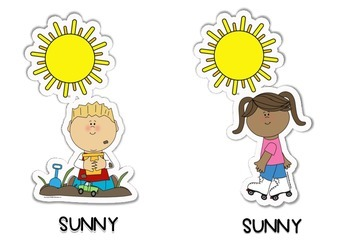 Weather & Kids Flashcards