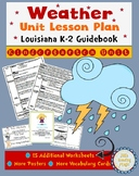Weather Kindergarten Unit Lesson PLan for Louisiana K-2 Guidebook