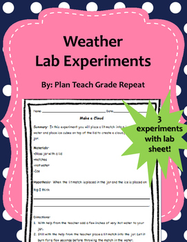 Weather Lab Experiments